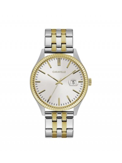 Caravelle Designed by Bulova Men's 45B148 Two-Tone Gold Stainless Bracelet Watch