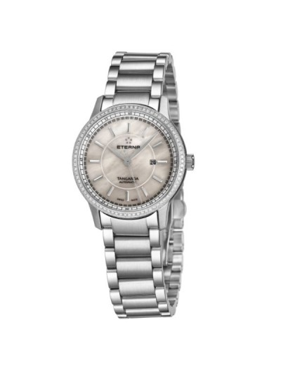 Eterna Women's 2947.50.61.0285 'Tangaroa' Mother of Pearl Dial Stainless Steel Diamond Automatic Watch
