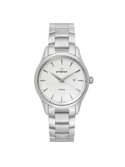 Eterna Men's 2520.41.11.0274 'Artena' Silver Dial Stainless Steel Quartz Swiss Made Watch