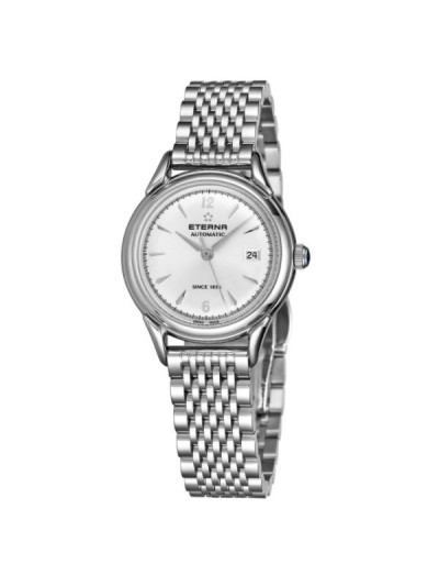 Eterna Women's 2956.50.13.1742 'Heritage 1948 For Her' Silver Dial Stainless Steel Diamond Automatic Watch