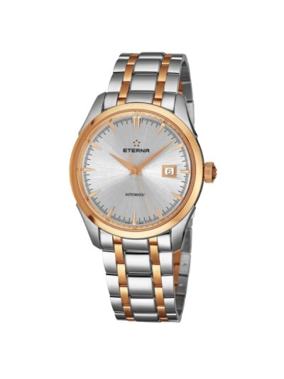 Eterna Men's 2951.53.11.1701 'Eternity' Silver Dial Two Tone Stainless Steel Swiss Automatic Watch